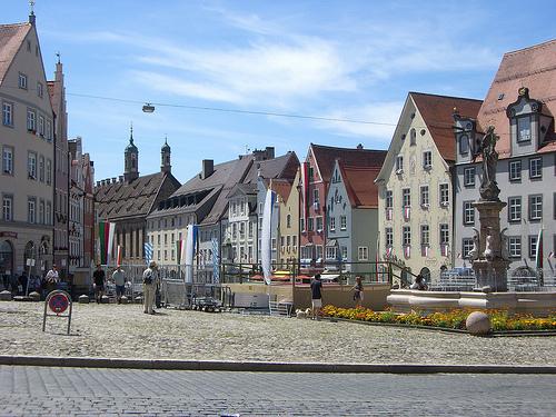 Marktplatz Landsberg © flickr.com / cspannagel
